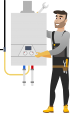 Стандартный монтаж газового котла до 24kW