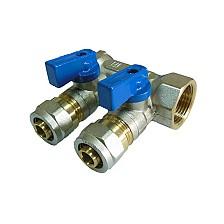 Distribuitor A-P/albastru 3 cai 3/4x16