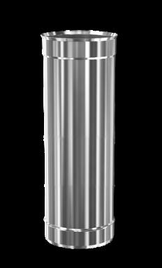 d.220 Труба дымоходная 500 mm (inox 304)