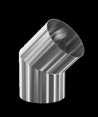 d. 250 Угол дымоходный 45° (inox 304)