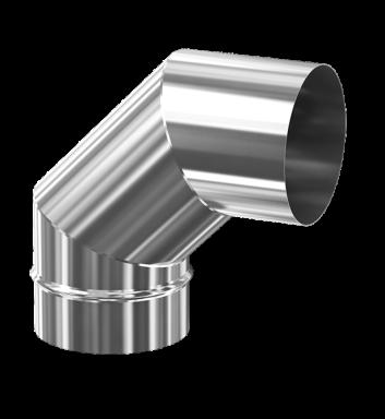 d. 160 Угол дымоходный 90° (inox 304)
